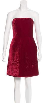 Valentino Velvet Strapless Dress