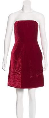 Valentino Velvet Strapless Dress