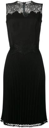 Ermanno Scervino lace embellished pleated dress