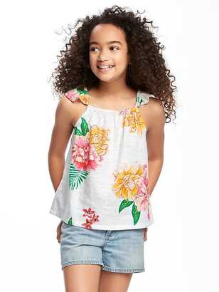 Printed Ruffle-Sleeve Top for Girls $16.94 thestylecure.com