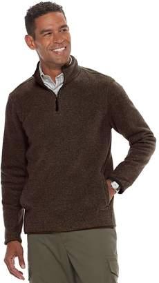 Croft & Barrow Men's Classic-Fit Textured Fleece Quarter-Zip Pullover Sweater