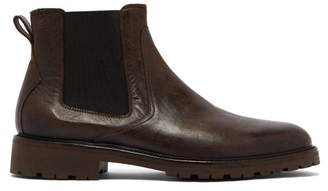 Belstaff Rode Leather Chelsea Boots - Mens - Black Brown