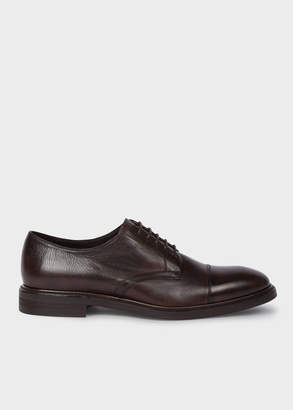 Paul Smith Men's Dark Brown Leather 'Rosen' Derby Shoes