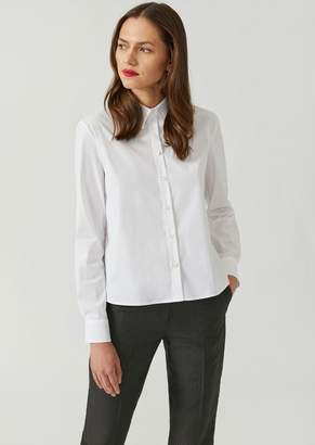 Emporio Armani Poplin Shirt With Pleated Back Panel