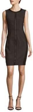 T Tahari Sleeveless Front Zip Dress