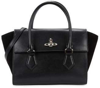 Vivienne Westwood Matilda Black Leather Tote