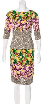 Tracy Reese Printed Silk Dress