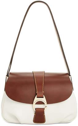 Dooney & Bourke Pebble Leather Flap Shoulder Bag