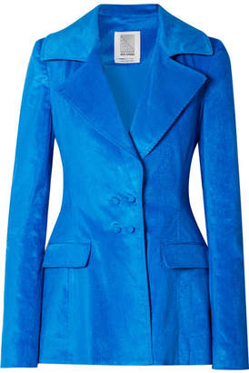 Rosie Assoulin Cotton-blend Corduroy Blazer - Bright blue