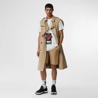Burberry Icon Stripe Detail Cotton Twill Chino Shorts