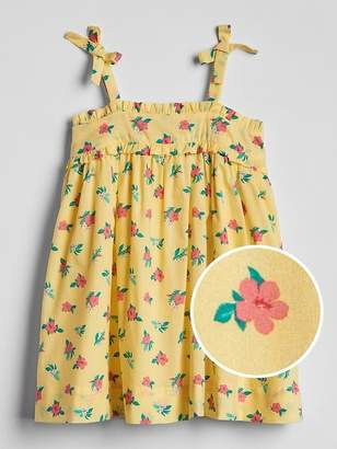 Gap Floral Bow Tank Dress