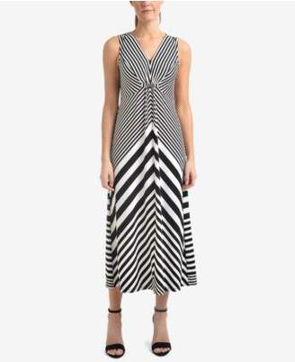 NY Collection Striped Embellished Dress