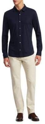 Saks Fifth Avenue COLLECTION Long Sleeve Button-Down Polo
