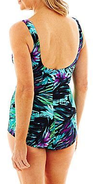 JCPenney Azul by Maxine of Hollywood® Ocean Dream Shirred One-Piece Swimsuit