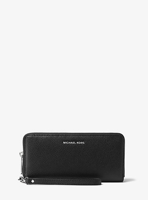 Michael Kors Mercer Leather Continental Wristlet