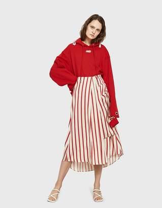 CHRISTOPHER ESBER Multi Tuck Drape Skirt
