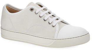 79771d75d25 Lanvin Men s Matte Cap-Toe Low-Top Sneakers
