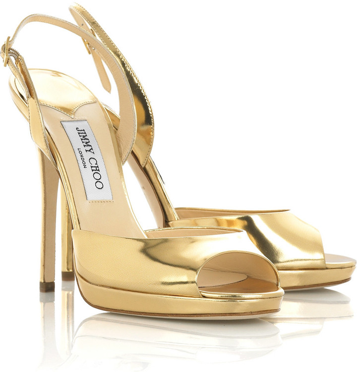 Jimmy Choo Elazer metallic sandals