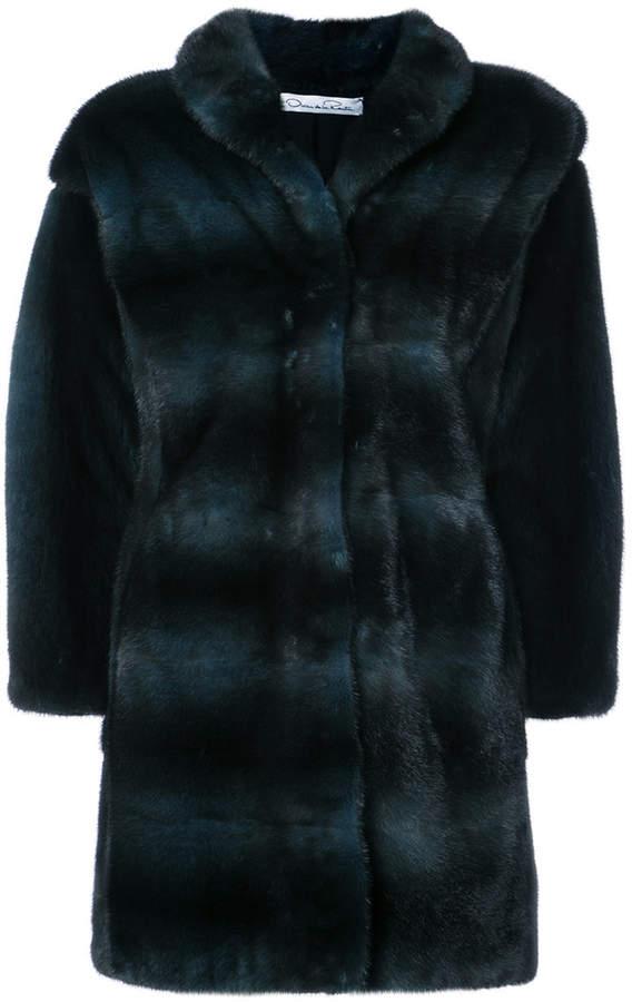 shawl collar fur coat