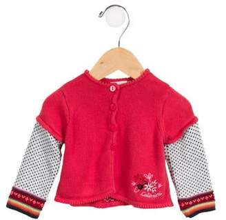 Catimini Girls' Bunny Patterned Cardigan
