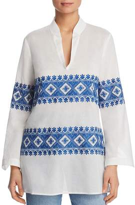 Tory Burch Stephanie Embroidered Tunic Top