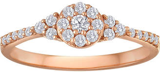 JCPenney MODERN BRIDE 1/3 CT. T.W. Diamond 10K Rose Gold Bridal Ring