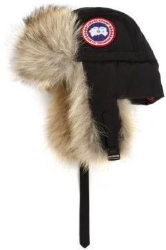 Canada Goose Fur-Trimmed 1900 Aviator Hat $250 thestylecure.com