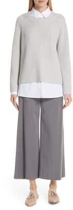 Lafayette 148 New York Cotton & Silk Open Side Pullover