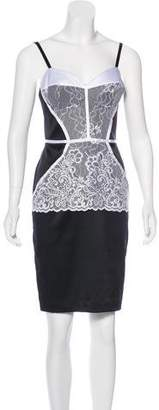Just Cavalli Lace Sleeveless Knee-Length Dress w/ Tags