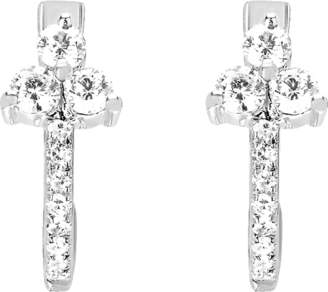 Ef Collection Diamond Trio Huggie Earrings