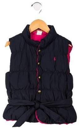 Ralph Lauren Girls' Belted Down Vest