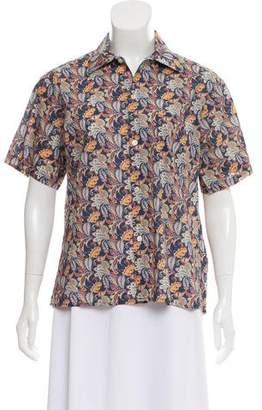 R 13 Printed Short Sleeve Top