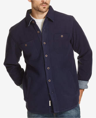 Weatherproof Vintage Men's Plaid Fleece-Lined Shirt Jacket