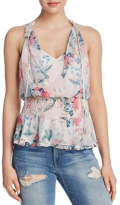 Parker Creed Sleeveless Floral-Print Top