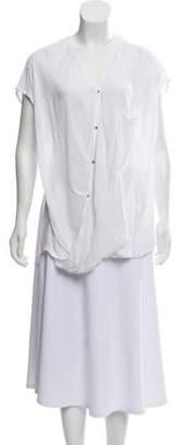 Helmut Lang Sleeveless Button-Up Blouse