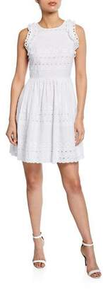 Kate Spade Eyelet Sleeveless Mini Cotton Dress