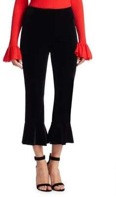 Scripted Velvet Ankle Pants