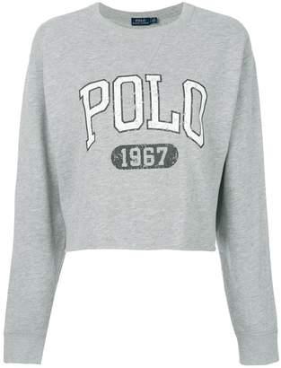 Polo Ralph Lauren (ポロ ラルフ ローレン) - Polo Ralph Lauren cropped logo sweatshirt