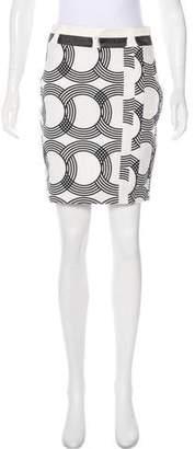 Chris Benz Printed Mini Skirt