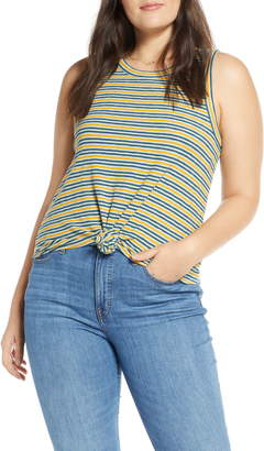 Madewell Audio Stripe Knot Front Tank Top