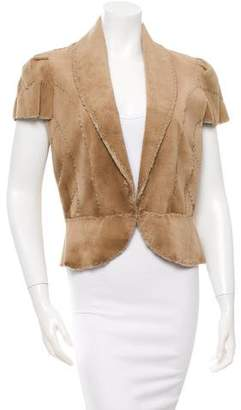 J. Mendel Sheared Mink Short Sleeve Jacket