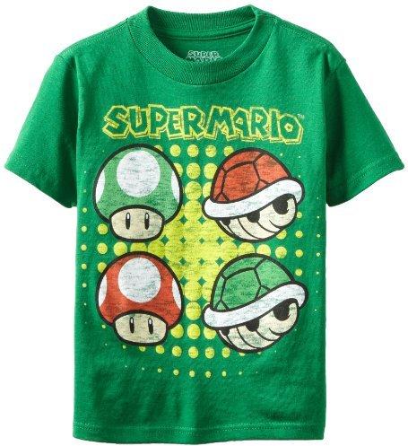 Nintendo Boys 2-7 Mushroom and Shell Short Sleeve Tee
