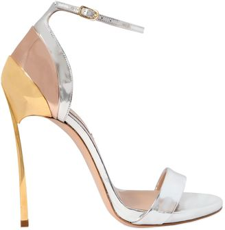 120mm Techno Blade Leather Sandals $820 thestylecure.com