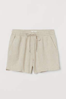 H&M Linen-blend Shorts - Beige