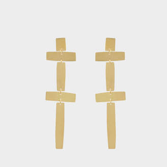 Annie Costello Brown Double Cross earrings