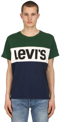 Levi's Logo Color Block Cotton Jersey T-Shirt