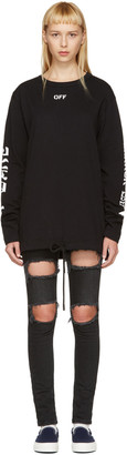 Off-White Black Quotes T-Shirt $330 thestylecure.com