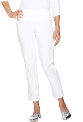 Isaac Mizrahi Live! Petite Brushed Sateen Pull-On Ankle Pants