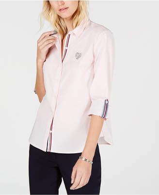 Tommy Hilfiger Heart Patch Roll-Tab Shirt