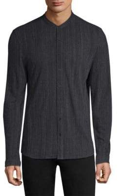 John Varvatos Foil Jersey Long Sleeve Shirt